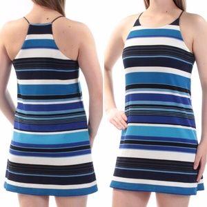 Bar III Textured Striped Shift Mini Dress